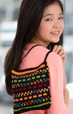 Tote of Many Colors Free Crochet Pattern from Red Heart Yarns