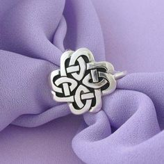 Celtic style scarf ring.