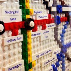 Twitter / LiveShareTravel: Lego map of London Tube