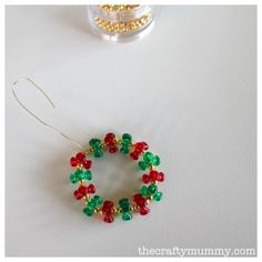 bead wreath tutorial