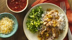 Making Mexican burrito bowls at home is easy when you cook your pork in the slow cooker.