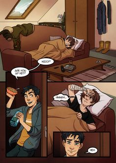 That's rough, buddy.  Nico like to stay over the Jackson's sometimes and Percy wakes him up really early and they go out and have a cousin day (after they kidnap Thals that is).<------ this hurts now that I know.