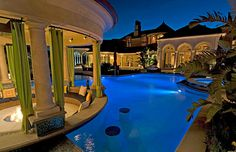 Outdoor Seating Area and Swimming Pool - - as seen on HGTV's Million Dollar Rooms (Hidden Hills, CA)