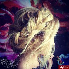 Fryzury Blond włosy: Fryzury Długie Na co dzień Proste Warkocze Blond - CzEkOlAdKa2010 - 2398160