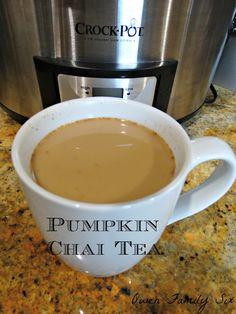 Pumpkin Chai Tea Pumpkin Chai Tea (FP)  Nutrition info for entire recipe:  140 Cal., 10.25g fat, 6g net carbs For 8oz serving:  23.3 Cal, 1.7g fat, 1g net carb  compared to (1) 8oz serving Tazo pumpkin spice chai latte using 2% milk: 140 Cal, 2.5g fat,  31g carbs, 32g sugar This recipe would be a fuel pull if you are following Trim Healthy Mama.