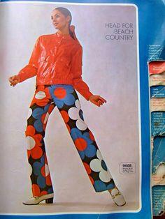 1970s Flower Power Trousers