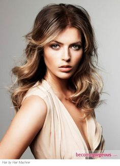 Dark roots style - make use of your natural colour and add highlights to brighten up the look
