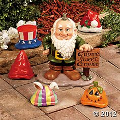 Gnome Greeter with Hats  LOVE THIS!!!!!!!