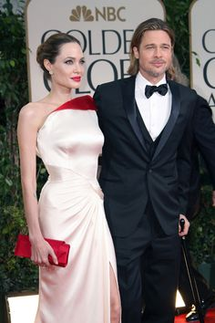 Angelina Jolie stuns in Versace at Golden Globes