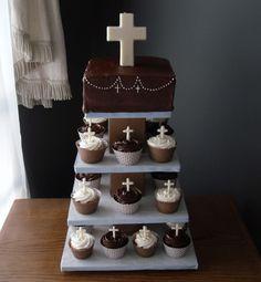 Torta y Cupcakes de primera comunión.
