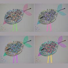washi tape & leaves bird {cloudcuckoodesigns}