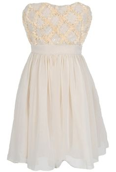 Vanilla Frosted Confection Dress by Minuet #ivory #wedding #party #dinner #date #dress #fashion #holidays