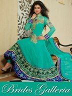 Sea Green Pure Georgette Anarkali Suit