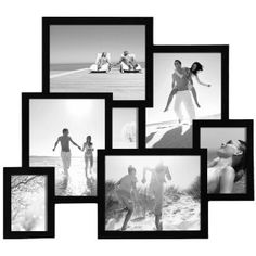 Amazon.com: Adeco [PF0004] 7 Openings 3-D Picture Collage Frame - Holds One 4.5x3, One 4x6, One 5x7 and Four 8x10 Inches Photos - Black, Wood Frame For Wall Decoration: Furniture & Decor