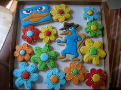 Disney Channel Perry the Platypus Cookies