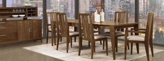 Modern Dining Room Furniture. The Kyoto Collection at Vermont Woods Studios.