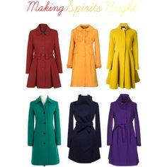 Making Spirits Bright  Lovely, bright wool coats!