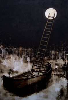 "Saatchi Online Artist: John Sokol; Mixed Media, 2009, Painting ""Departure"""