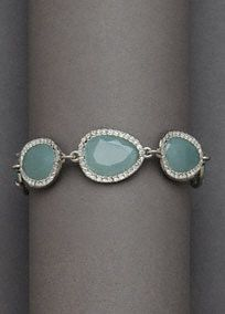 Colored Stone Bracelet with Crystal Pave Accents, Style B6510 #davidsbridal #blueweddings #somethingblue #jewelry