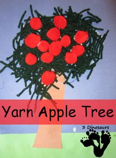 Yarn Apple Tree - 3Dinosaurs.com