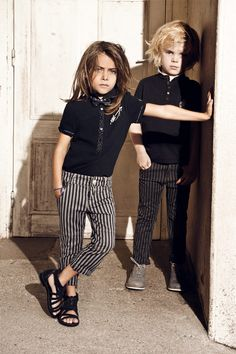 all that hair!!!! + striped cropped pants.