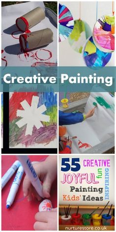 paint idea, food, art, activ creativ, kids, kid paint, paintings, creativ paint, kid craft