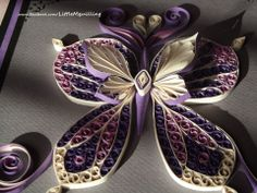 3D quilled butterfly :)