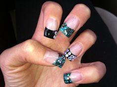 black fashion nail