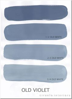 Varying tints possible with Chalk Paint® decorative paint by Annie Sloan. A combination of Old Violet & Old White by Ciruelo Interiors.