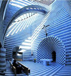 Church of St. John the Baptist, Lavizzara, Switzaland, designed by Mario Botta.