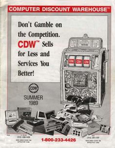 Check the cover of the  first CDW catalog from 1989