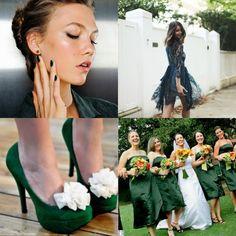 makeup dark green per un matrimonio primavera e estate