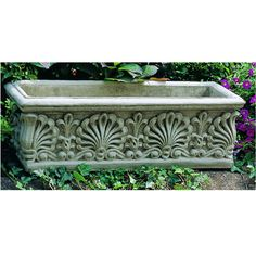 Cast Stone Planter, Shell rectangle