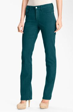 NYDJ 'Marilyn' Colored Straight Leg Stretch Jeans available at #Nordstrom