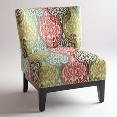 Rio Multicolored Ikat Darby Chair - v2