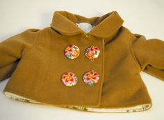 DIY Retro Baby Coat - FREE Sewing Pattern and Tutorial