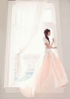 Blushing pink dress I feel like I was made to wear a pink wedding dress