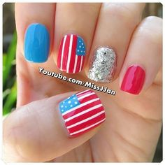 missjjan's 4th of July nail inspo. Tag yours with #SephoraNailspotting for the chance to be featured! #Sephora #nails #nailpolish