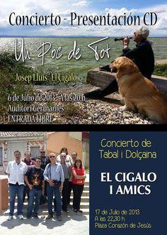 Por si os interesa - Concierto presentación CD Un poc de tot de Dolçaina próximo 6 de Julio en Manises (Valencia)