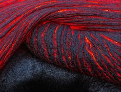 Folding lava.