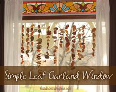 A fall window decoration the kids can do completely on their own with only 2 items - tape and real leaves! Gorgeous!