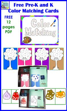 photo of the color matching free printable in use in trays