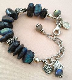 Labradorite Lovers Bracelet with .925 artisan sterling silver