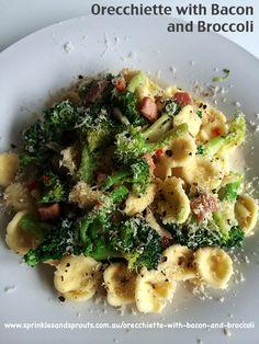 Orecchiette with bacon and broccoli, Scrummy pasta recipe