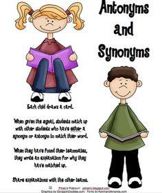 classroom, idea, synonym matchup, school stuff, languag art, read, teach, antonym, pitner potpourri