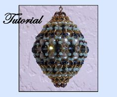 Charlene Ornament Cover Pattern by Paula Adams AKA Visions by Paula at Bead-Patterns.com