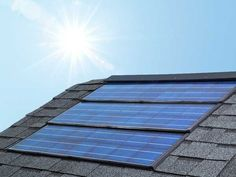 We're all for solar panels that tie into the roofline less obtrusively, and these go right over the sheathing, in place of shingles. Each panel has 14 polycrystalline cells and can generate up to 52 watts per hour and withstand hail and 110-mph wind.     Photo: Courtesy of CertainTeed | thisoldhouse.com | from The TOH Top 100: Best New Home Products 2012