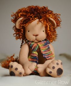 Waldorf inspired lion doll by Glimmer Row