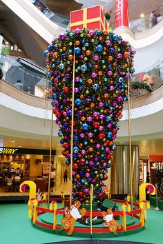 Inverted Christmas tree