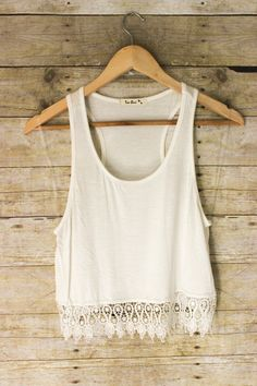 Man Hunter Crop Top: White Plain and simple, but cute man hunter, lace tops, crop tops, white crop, ador, tank, black, summer tops, maxi skirts